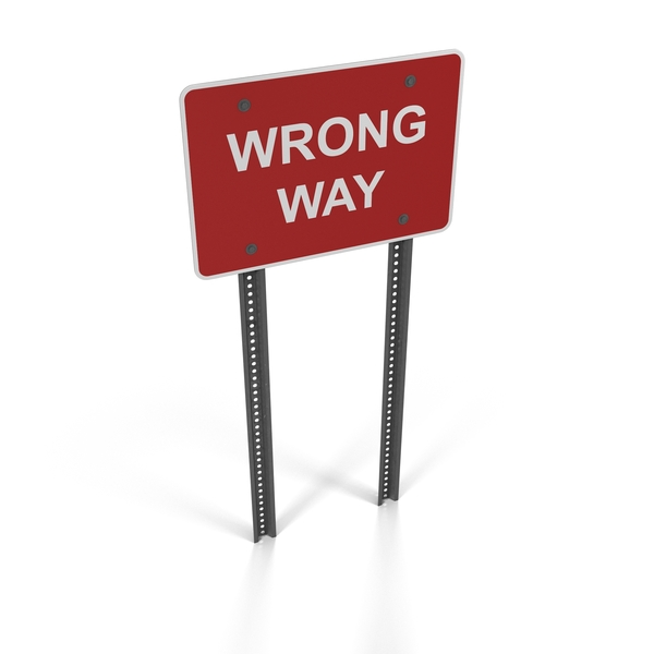 Wrong Way Sign PNG & PSD Images