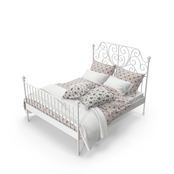 Bedroom Set: Wrought Iron Bed PNG & PSD Images