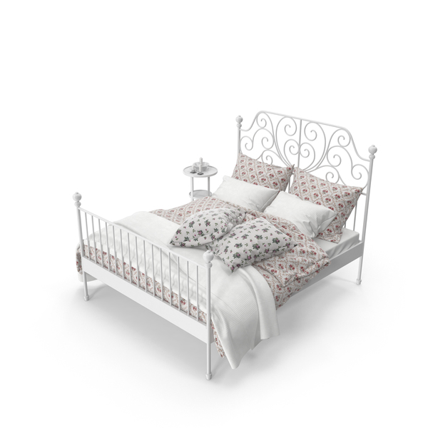 Bedroom: Wrought Iron Bed Set PNG & PSD Images