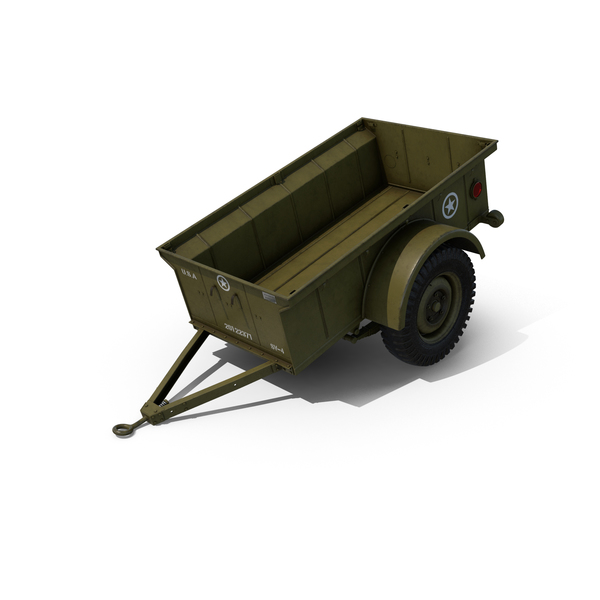 WW2 Military Jeep Trailer Object