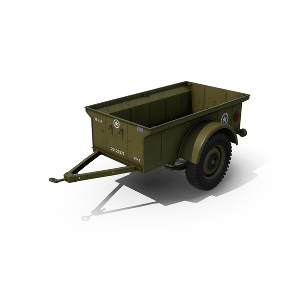 Army: WW2 Military Jeep Trailer PNG & PSD Images