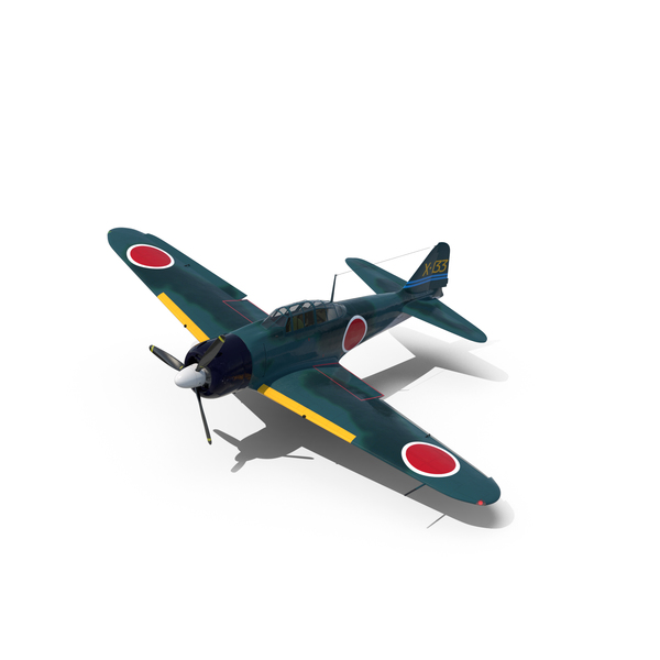 WWII Fighter Aircraft A6M Zero PNG & PSD Images