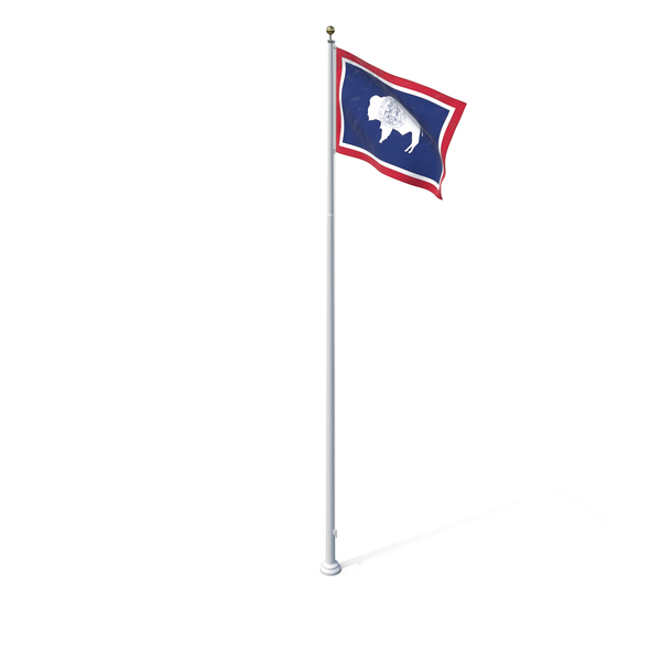 Wyoming State Flag Object