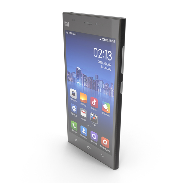 Xiaomi Mi 3 Black PNG & PSD Images