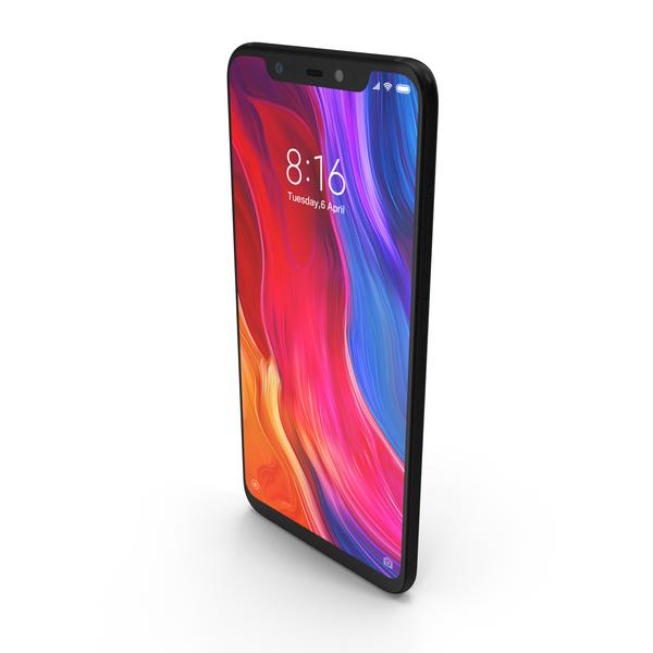 Xiaomi Mi 8 Black PNG & PSD Images