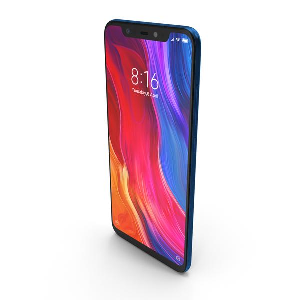 Xiaomi Mi 8 Blue PNG & PSD Images