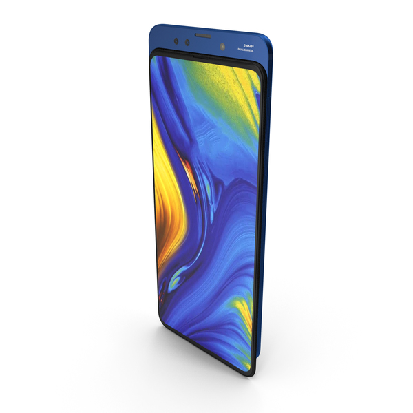 Xiaomi Mi Mix 3 Blue PNG & PSD Images