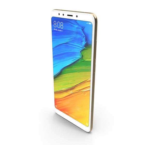 Xiaomi Redmi 5 Gold PNG & PSD Images