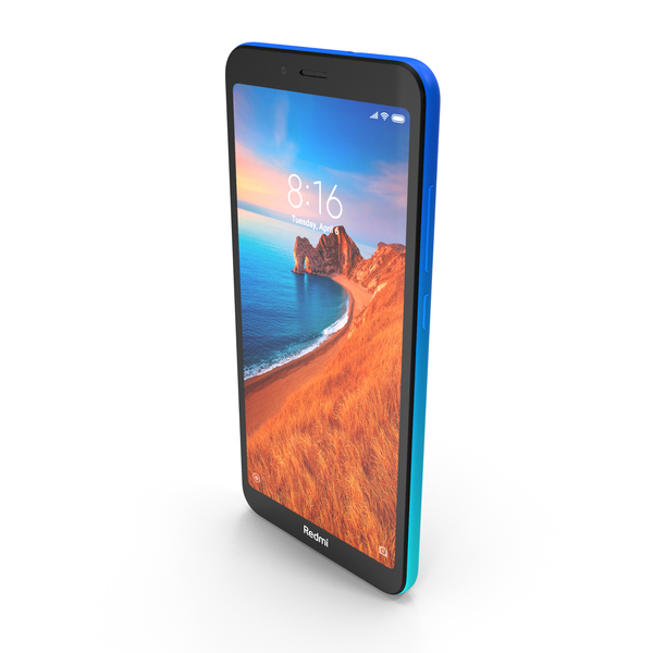 Xiaomi Redmi 7A Gem Blue PNG & PSD Images