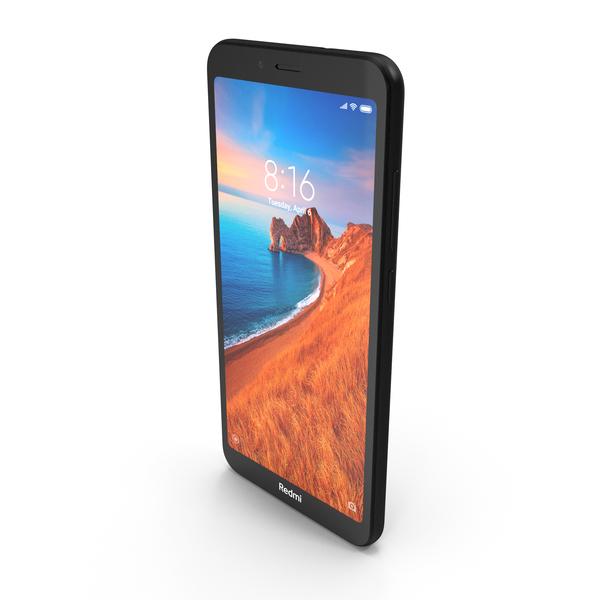 Xiaomi Redmi 7A Matte Black PNG & PSD Images