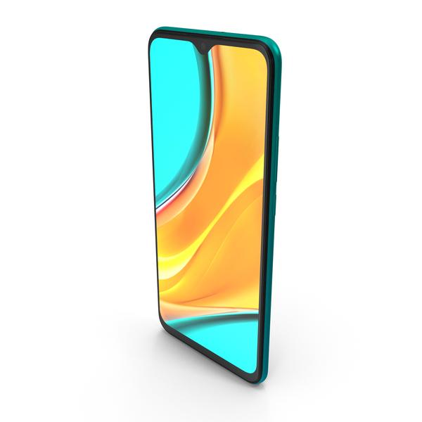 Xiaomi Redmi 9 Green PNG & PSD Images