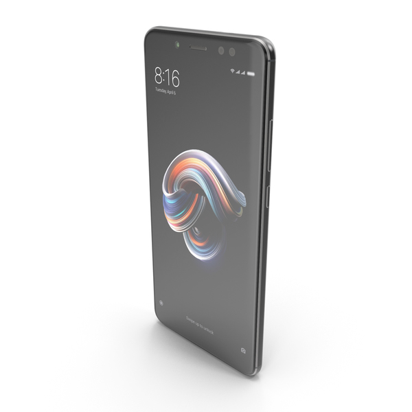 Xiaomi Redmi Note 5 Pro Black PNG & PSD Images