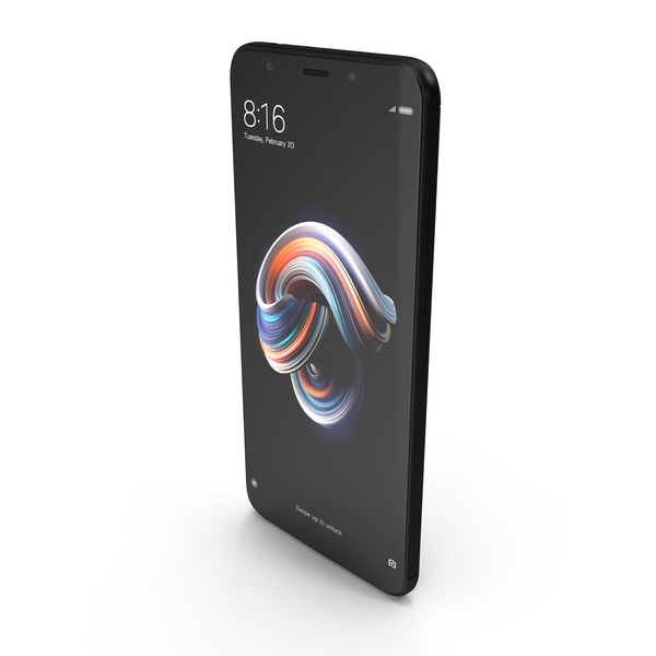 Xiaomi Redmi Note 5 (Redmi 5 Plus) Black PNG & PSD Images