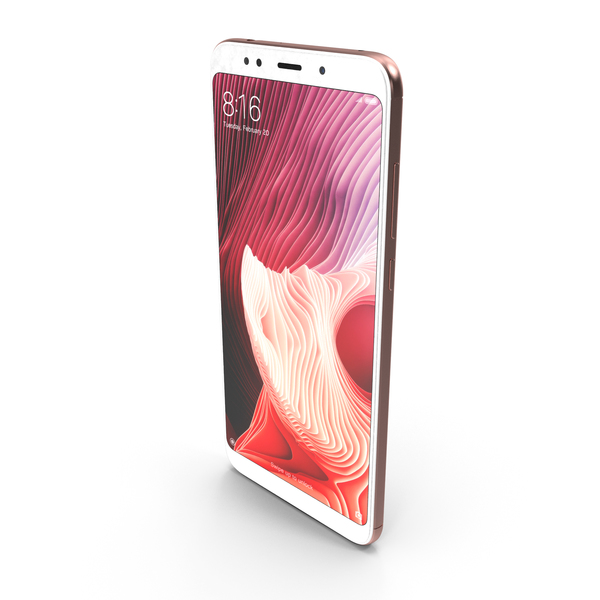 Xiaomi Redmi Note 5 (Redmi 5 Plus) Rose Gold PNG & PSD Images
