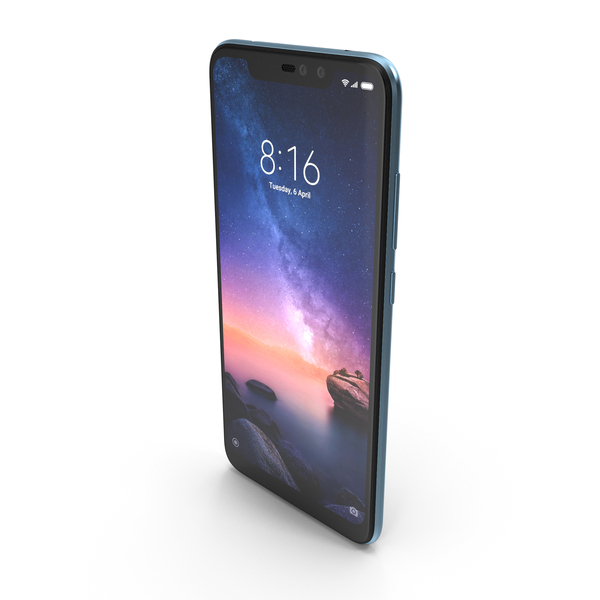 Xiaomi Redmi Note 6 Pro Blue PNG & PSD Images