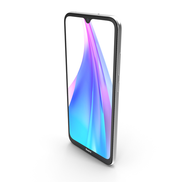 Xiaomi Redmi Note 8T Moonlight White PNG & PSD Images