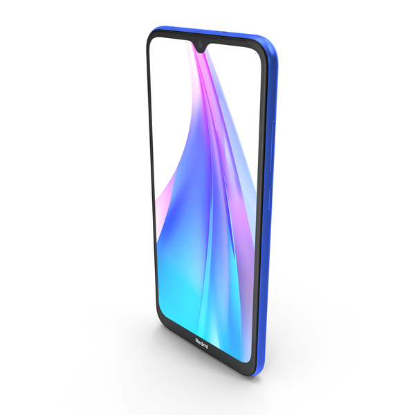 Xiaomi Redmi Note 8T Starscape Blue PNG & PSD Images