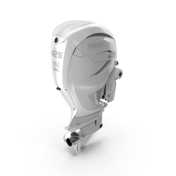 Yamaha F425A 4-Stroke Outboard Motor PNG & PSD Images