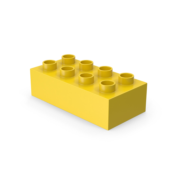 Yellow 2x4 Lego PNG & PSD Images
