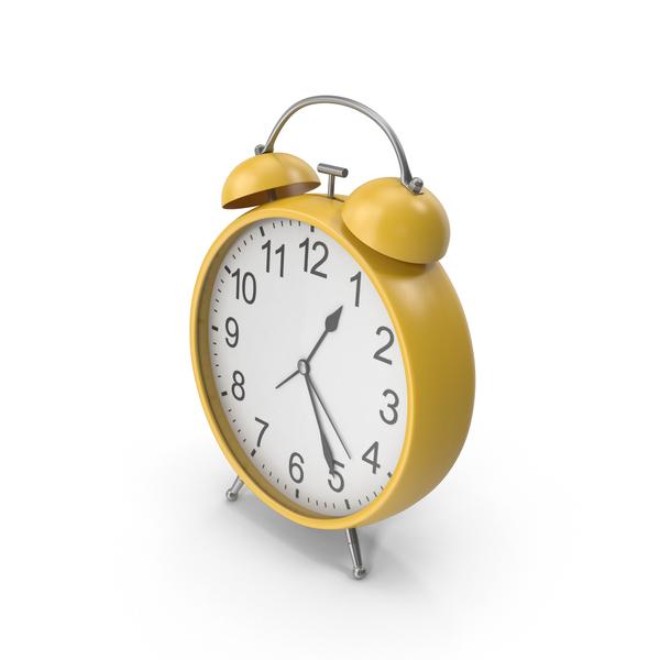 Yellow Alarm Clock PNG & PSD Images