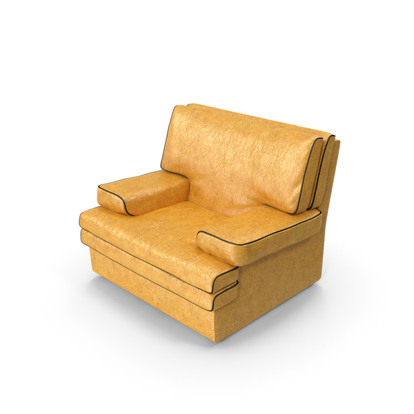 Arm Chair: Yellow Armchair PNG & PSD Images