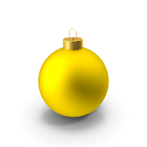 Yellow Ball Ornament Object