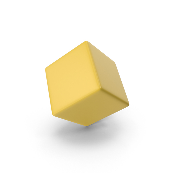 Yellow Cube PNG & PSD Images