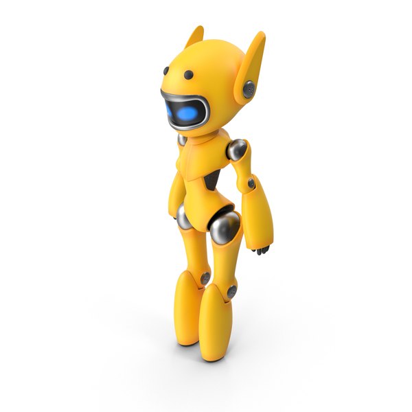 Yellow Cute Robot PNG & PSD Images