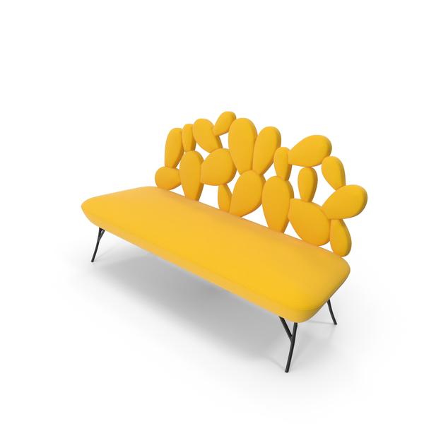 Yellow Designer Cactus Sofa by Pont Des Arts PNG & PSD Images