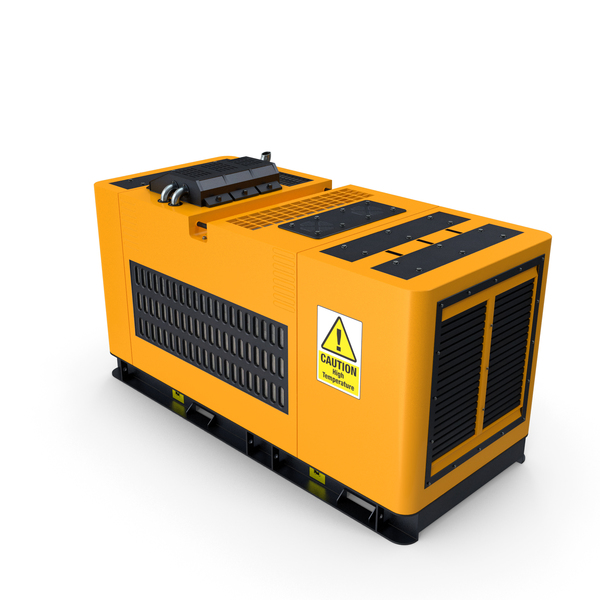 Yellow Diesel Generator PNG & PSD Images