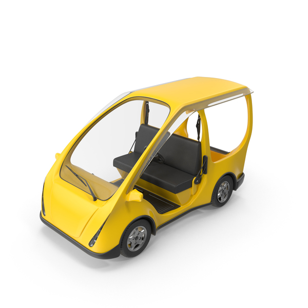 Cart: Yellow Electric Car PNG & PSD Images