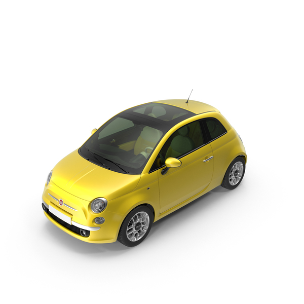 Yellow Fiat 500 PNG & PSD Images
