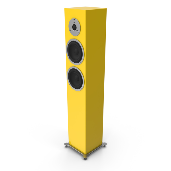 Yellow Floor Speaker PNG & PSD Images