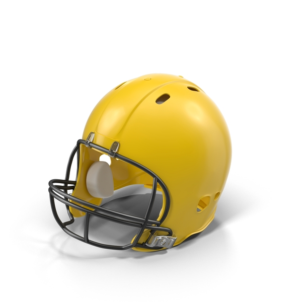 Yellow Football Helmet Object