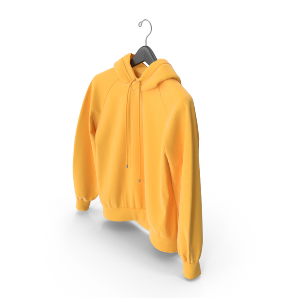 Yellow Hoodie with Hanger PNG & PSD Images