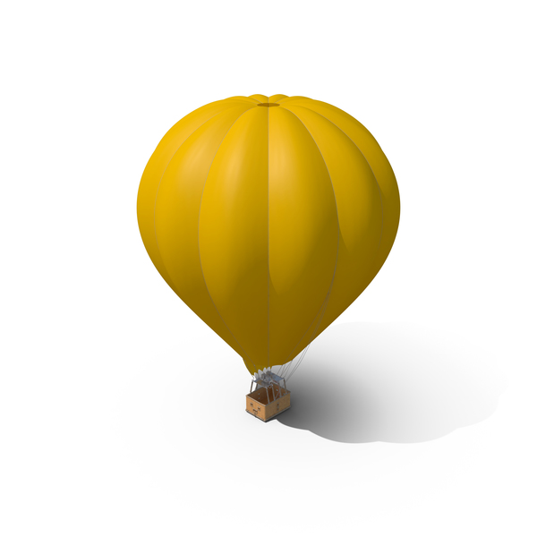 Yellow Hot Air Balloon PNG & PSD Images