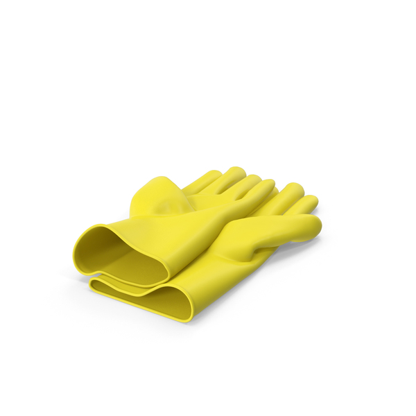Yellow Household Gloves PNG & PSD Images