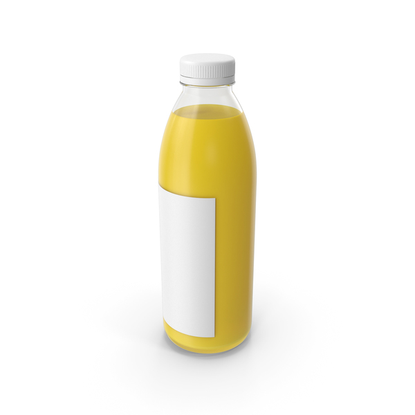 Yellow Juice Bottle PNG & PSD Images