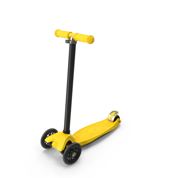 Yellow Kids Scooter PNG & PSD Images