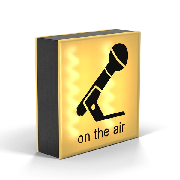 Yellow On Air Sign PNG & PSD Images