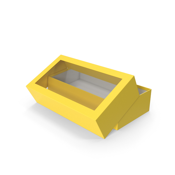Yellow Opened Box PNG & PSD Images