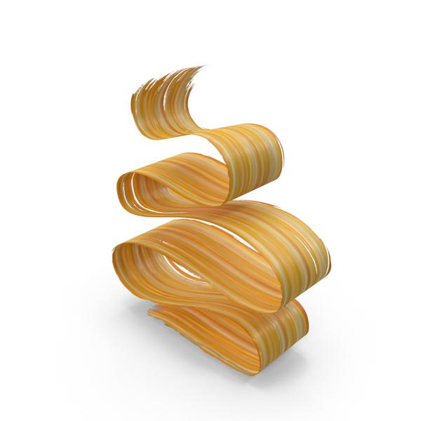 Paint: Yellow Orange 3D Paintbrush Stroke PNG & PSD Images