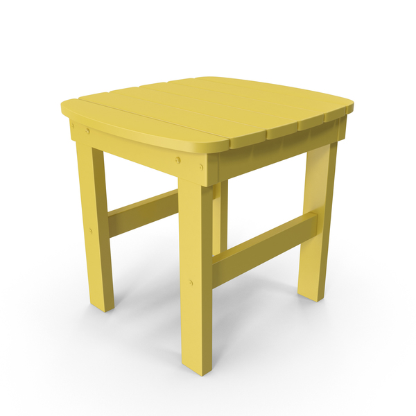 Patio: Yellow Outdoor Side Table PNG & PSD Images