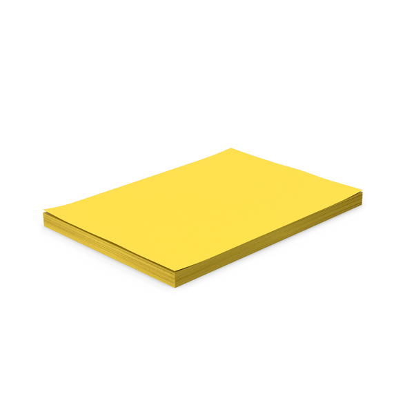 Trimmer: Yellow Paper Stack PNG & PSD Images