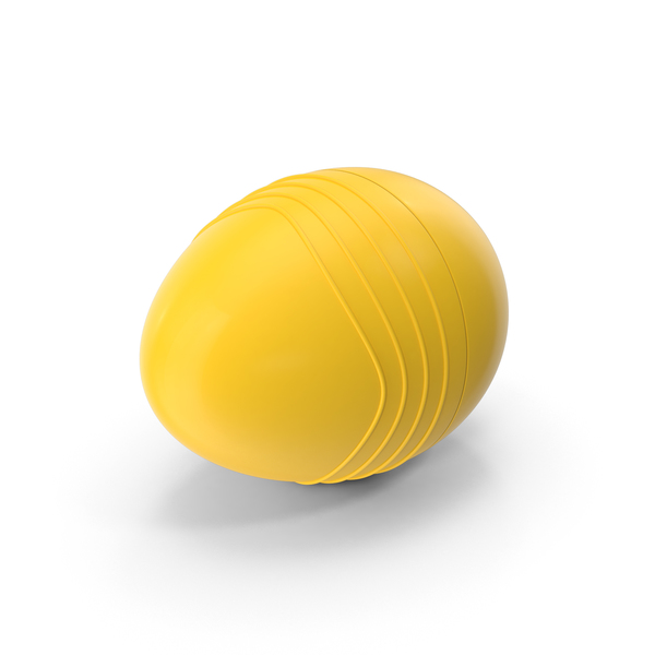 Yellow Plastic Egg with Ridges PNG & PSD Images