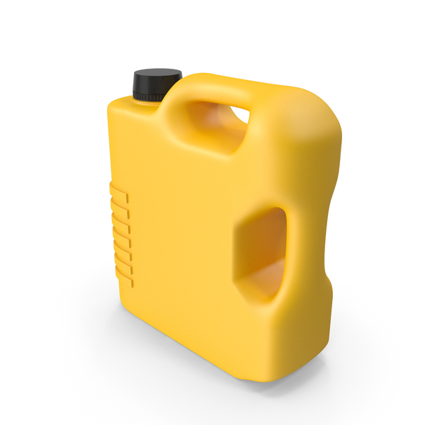 Fuel Can: Yellow Plastic Jerrycan PNG & PSD Images