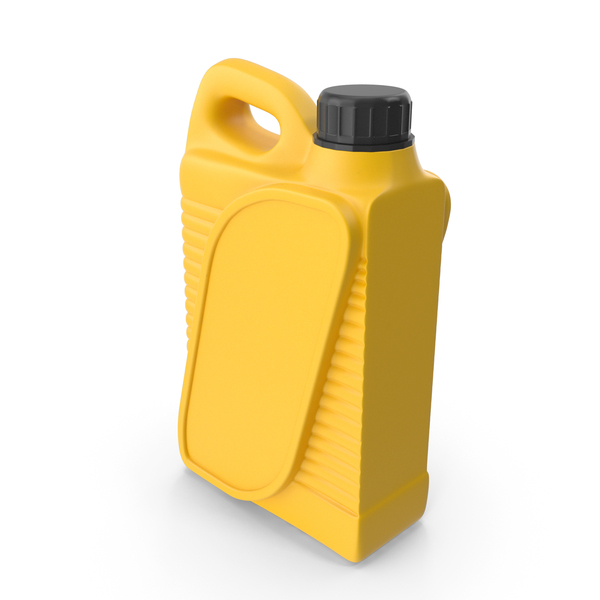 Yellow Plastic Jerrycan with Black Cap PNG & PSD Images