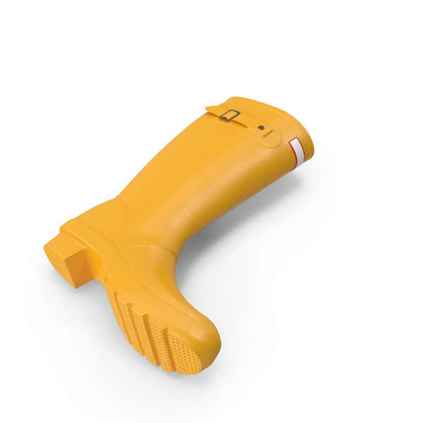 Yellow Rain Boot Object
