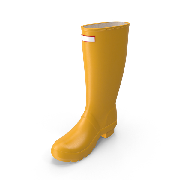 Yellow Rain Boot PNG & PSD Images