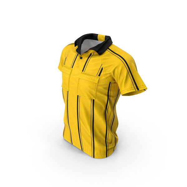 Referee Uniform: Yellow Referee's Jersey PNG & PSD Images